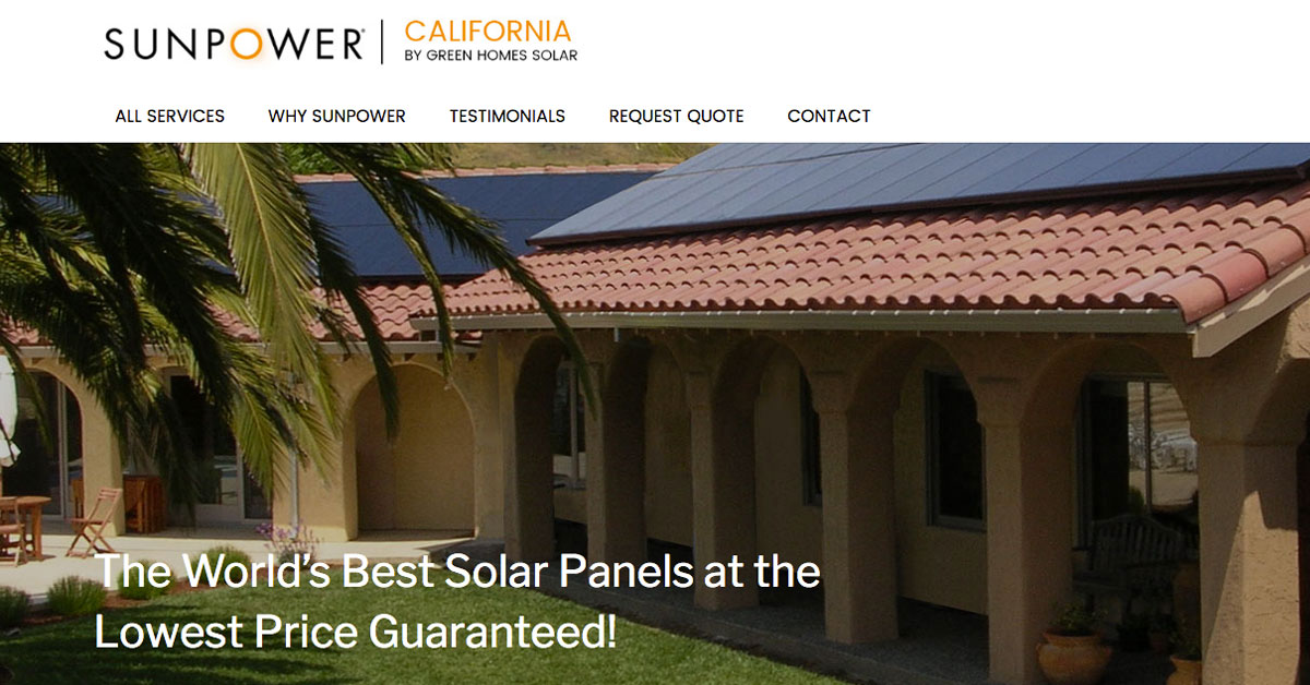 Contact Sunpower California San Diego Solar Power